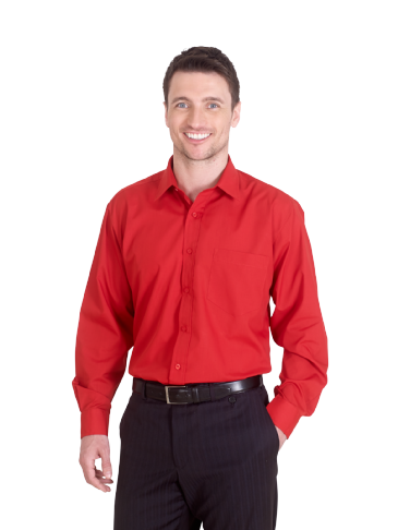 Uneek UC709 Men's Long Sleeve Poplin Shirt